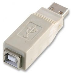 PRO POWER PEC0053  Adaptor Usb Am To Bf L Grey